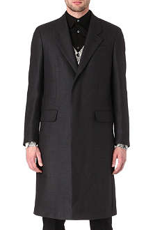 ALEXANDER MCQUEEN Single-breasted wool and cashmere coat