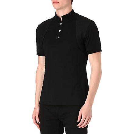ALEXANDER MCQUEEN Harness polo shirt (Black