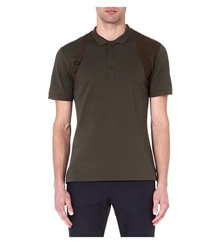 ALEXANDER MCQUEEN Harness polo shirt (Khaki