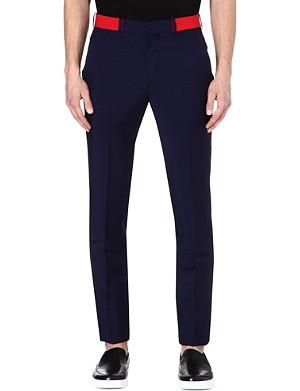ALEXANDER MCQUEEN Contrast waistband trousers