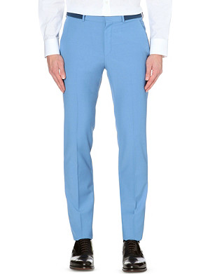 ALEXANDER MCQUEEN Tailored slim-leg wool-mohair trousers