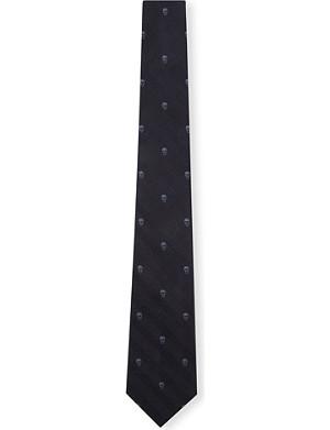 ALEXANDER MCQUEEN Prince of Wales Skull silk tie