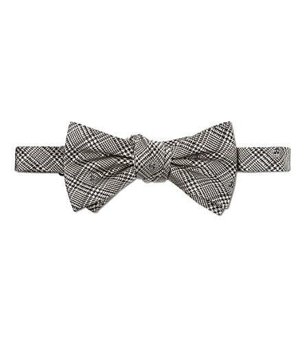 ALEXANDER MCQUEEN Skull bow tie (Ivory/black