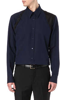 ALEXANDER MCQUEEN Contrast-harness slim-fit Oxford shirt