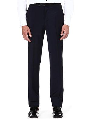 ALEXANDER MCQUEEN Wool-blend tuxedo trousers
