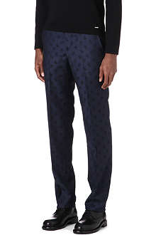 ALEXANDER MCQUEEN Slim-fit skull trousers