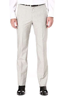 ALEXANDER MCQUEEN Slim-fit striped trousers