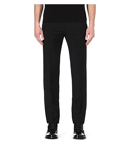 ALEXANDER MCQUEEN Wool and mohair-blend trousers (Black