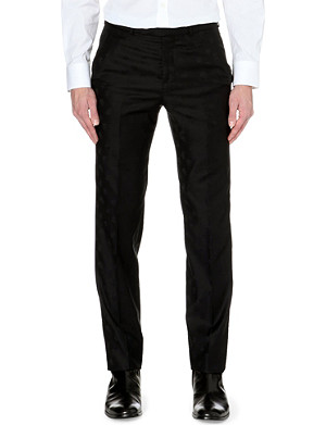 ALEXANDER MCQUEEN Tailored skull-print slim-fit wool trousers