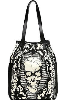ALEXANDER MCQUEEN Skull lace-print shopper bag