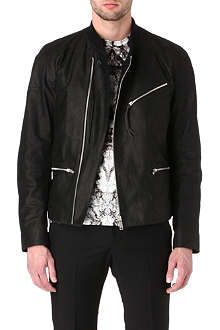 ALEXANDER MCQUEEN Zip-detailed leather bomber jacket