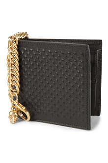 ALEXANDER MCQUEEN Moulded leather chain wallet
