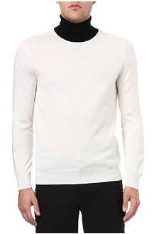 ALEXANDER MCQUEEN Contrast panel roll-neck jumper