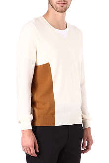 ALEXANDER MCQUEEN Side-panel v-neck jumper