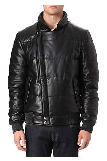 ALEXANDER MCQUEEN Quilted leather bomber jacket