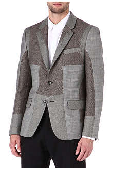 ALEXANDER MCQUEEN Patchwork two-button wool blazer