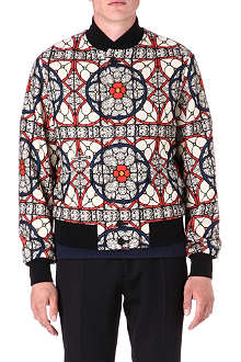 ALEXANDER MCQUEEN Stained glass bomber jacket