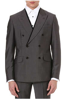 ALEXANDER MCQUEEN Pipe lapel double-breasted jacket
