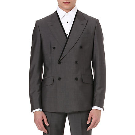 ALEXANDER MCQUEEN Pipe lapel double-breasted jacket (Grey