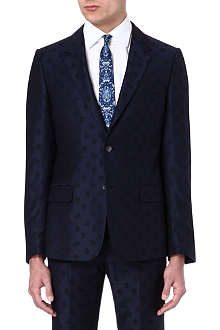 ALEXANDER MCQUEEN Skull-print two-button jacket