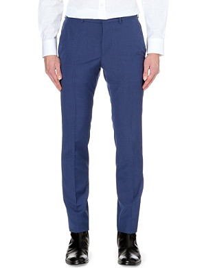 ALEXANDER MCQUEEN Tailored wool-mohair slim-fit trousers