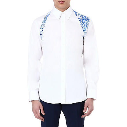 ALEXANDER MCQUEEN Lace print harness shirt (White