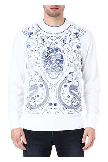 ALEXANDER MCQUEEN Embroidered-skull sweatshirt