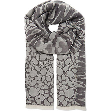 ALEXANDER MCQUEEN Union Jack patterned scarf (Black/white