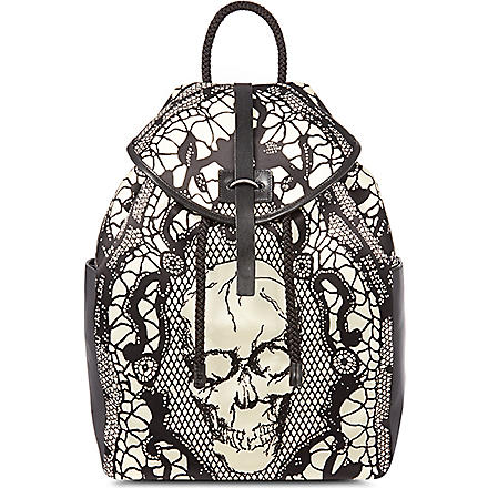 ALEXANDER MCQUEEN Skull lace backpack (Black