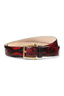 ALEXANDER MCQUEEN Python leather belt