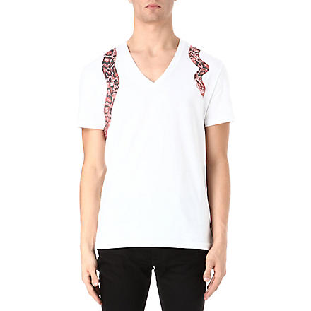 ALEXANDER MCQUEEN Snake Harness t-shirt (White/red