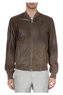 ALEXANDER MCQUEEN Leather bomber jacket