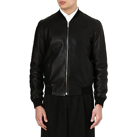 ALEXANDER MCQUEEN Leather bomber jacket (Black