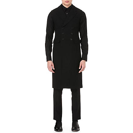 ALEXANDER MCQUEEN Double-breasted sleeveless jacket (Black