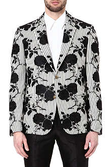 ALEXANDER MCQUEEN Cotton floral jacket