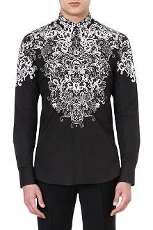 ALEXANDER MCQUEEN Engineered lace print shirt