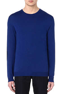 ALEXANDER MCQUEEN Lace-printed wool and silk-blend jumper