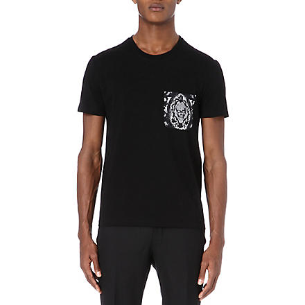 ALEXANDER MCQUEEN Lace pocket t-shirt (Black
