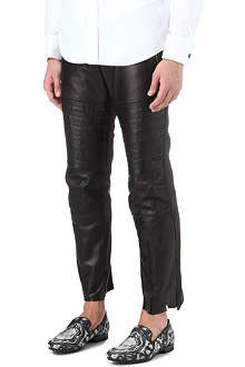 ALEXANDER MCQUEEN Leather biker trousers