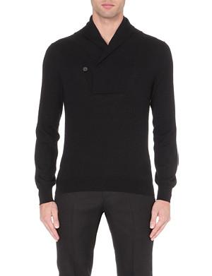 ALEXANDER MCQUEEN Shawl collar cashmere jumper