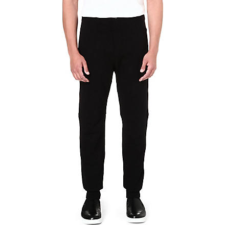 ALEXANDER MCQUEEN Cuffed slim-fit jogging bottoms (Black