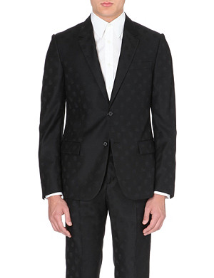 ALEXANDER MCQUEEN Skull-jacqurd tailored jacket