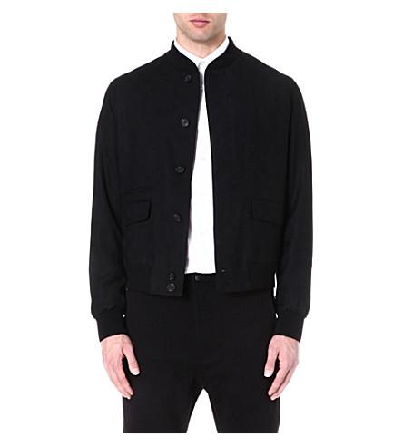 ALEXANDER MCQUEEN Skull jacquard bomber jacket (Black