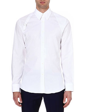 ALEXANDER MCQUEEN Harness slim-fit single-cuff shirt