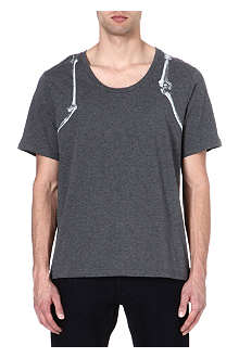 ALEXANDER MCQUEEN Bone Harness scoop-neck t-shirt