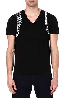 ALEXANDER MCQUEEN Spine Harness v-neck t-shirt