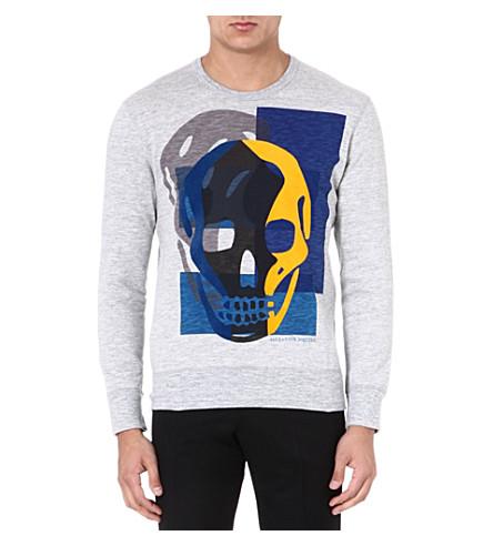ALEXANDER MCQUEEN Skull jersey sweatshirt (Grey