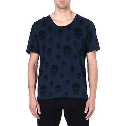 ALEXANDER MCQUEEN Skull-print t-shirt (Navy