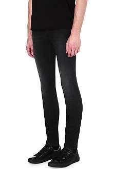 ALEXANDER MCQUEEN Faded skinny-fit tapered jeans