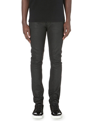 ALEXANDER MCQUEEN Slim-fit tapered coated jeans